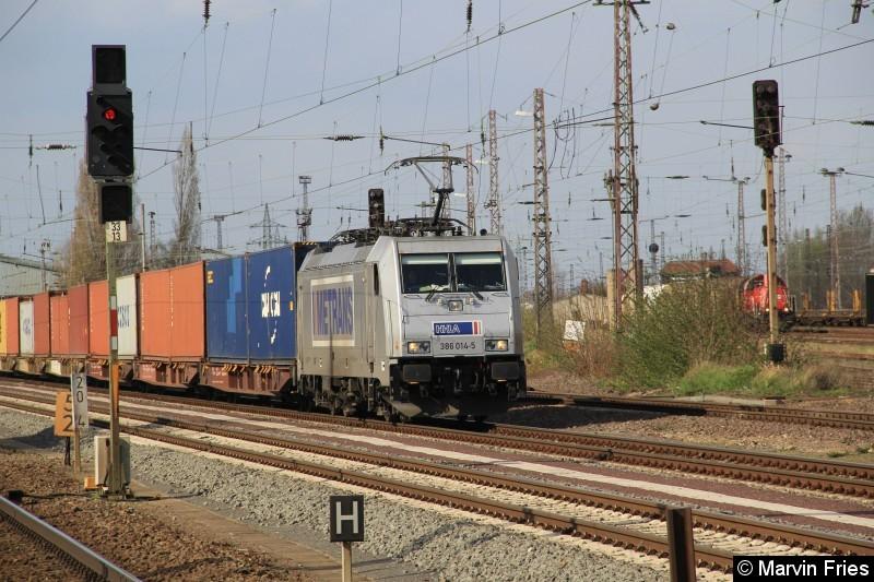 Bild: Metrans 386 014 am 06.04.2016 in Magdeburg-Eichenweiler