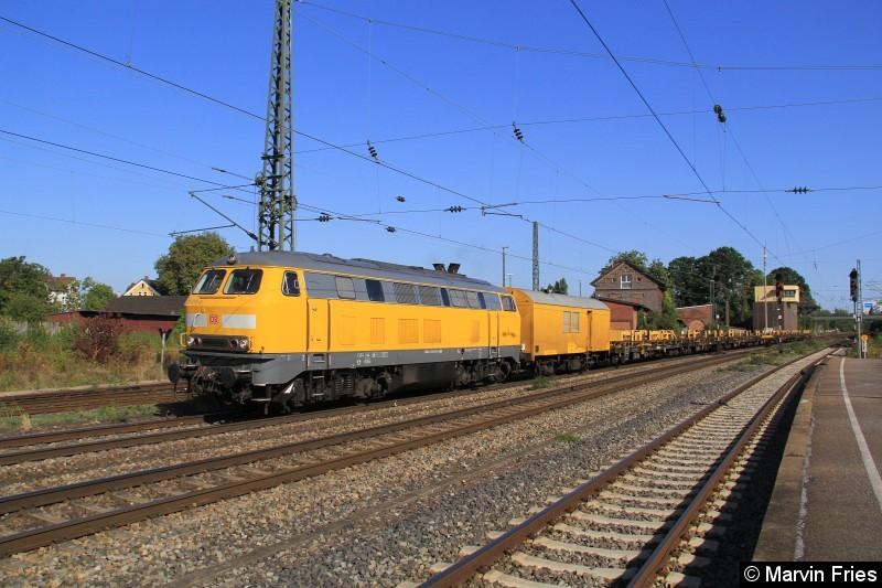 Bild: Bahnbau 225 010 durchfährt am 27.09.2016 Minden
